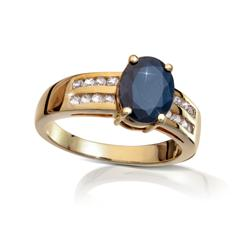Indian Blue Sapphire Oval Ring