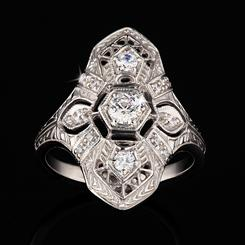 DiamondAura Coquette Ring