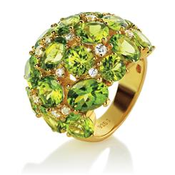 Apache Treasure Peridot Ring