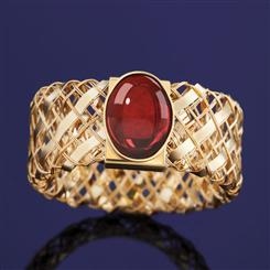 Via di Oro Garnet Ring