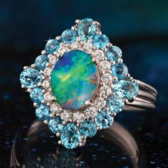 Giverny Australian Opal Doublet Ring