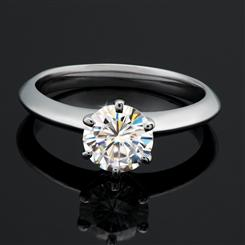 ULTRANOVA Moissanite Collection Solitaire Ring (1 Carat)
