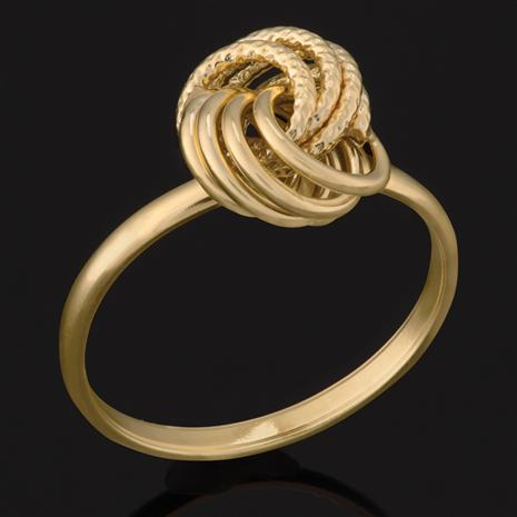14K Gold Italian Love Knot Ring