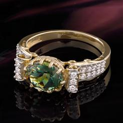 Oregon Sunstone Ring (Green)