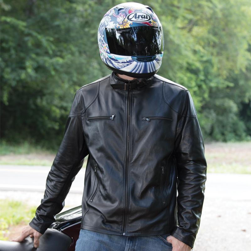 Mens Italian Leather Motorcycle Jacket
