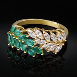 Laurel Emerald Ring