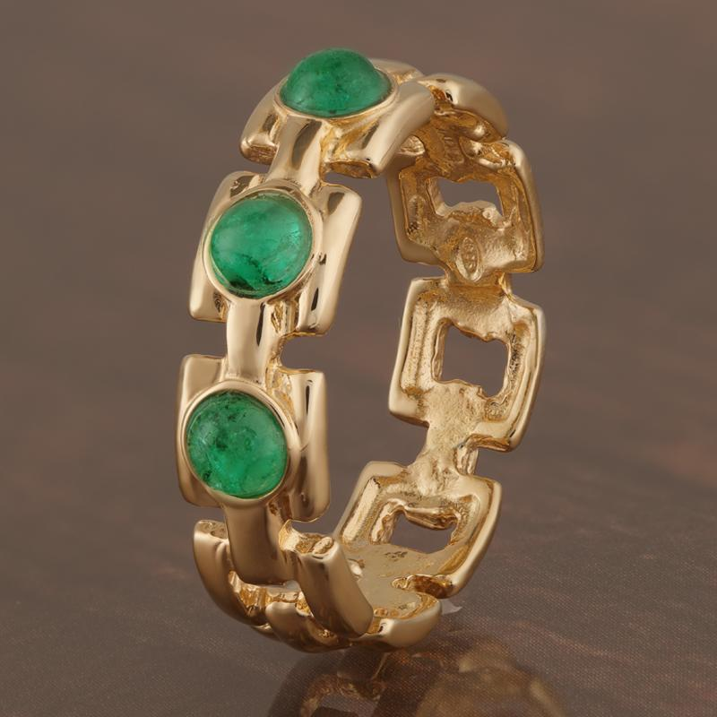 Crown Emerald Ring
