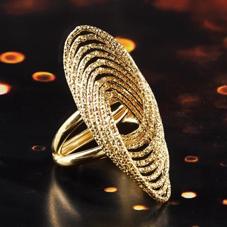 Infinity Italian 14K Yellow Gold Ring