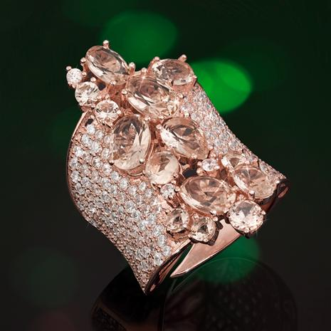 Pink Champagne Cuff Ring