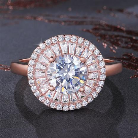 DiamondAura Halo Collection Ring