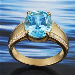 Copacabana Blue Topaz Ring (4 2/3 ctw)