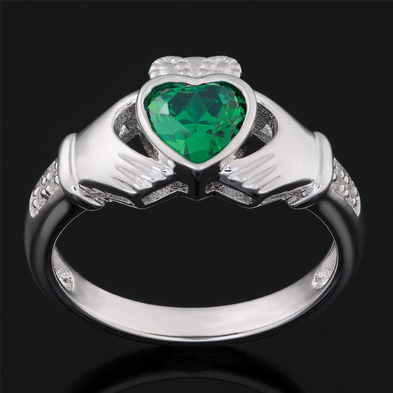 Helenite Claddagh Ring