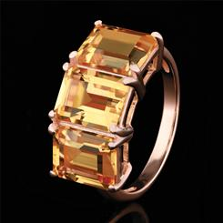 Citrine Freedom Ring