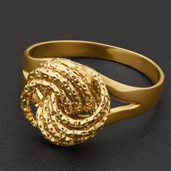 18K Italian Gold Over Sterling Rosetta Ring