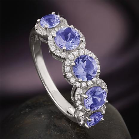 Tanzanite Five-Stone Ring