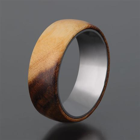 Men's Wood & Steel Ring