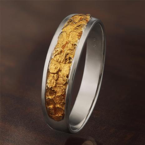 Men's Gold Nugget 1849 Ring