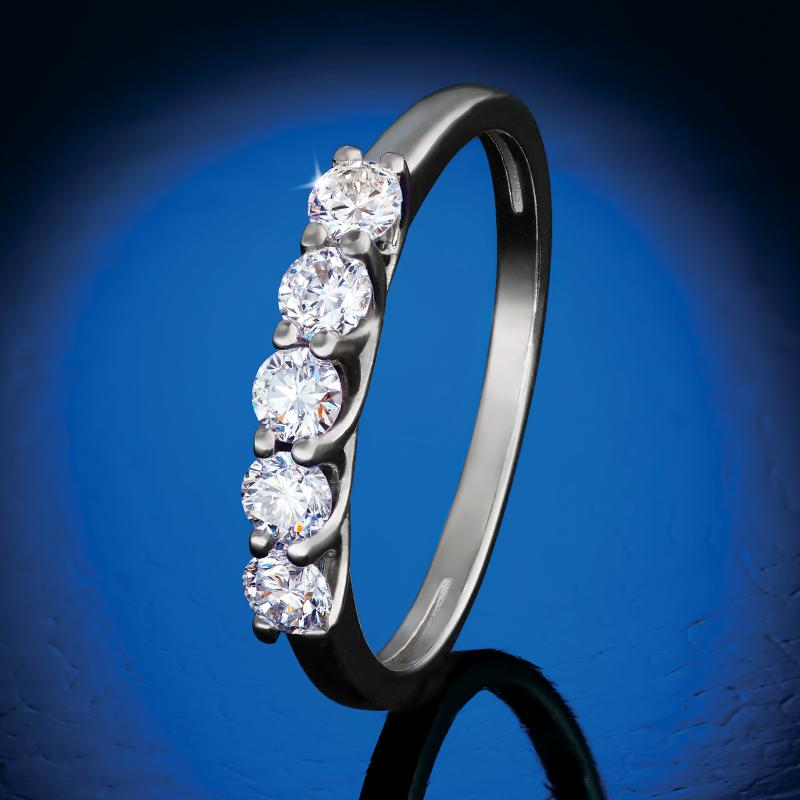 Sterling Silver Lab-Created Diamond Anniversary Band (1/2 ctw)
