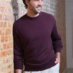 Italian-Made Cashmere Sweater/Bordeaux (crew-neck)