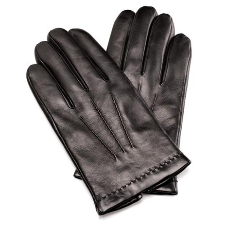 Men's Italian Leather Gloves (Black)
