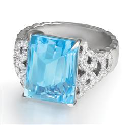 Blue Topaz Romance Ring