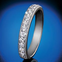 14K White Gold Lab-Created Diamond Anniversary Band (1/2 ctw)