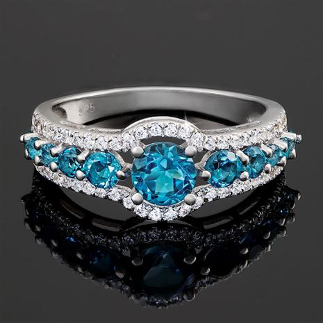 London Blue Topaz Night Sky Ring