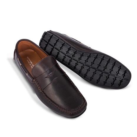 Amalfi Driving Shoes -Penny Loafer - Dark Brown